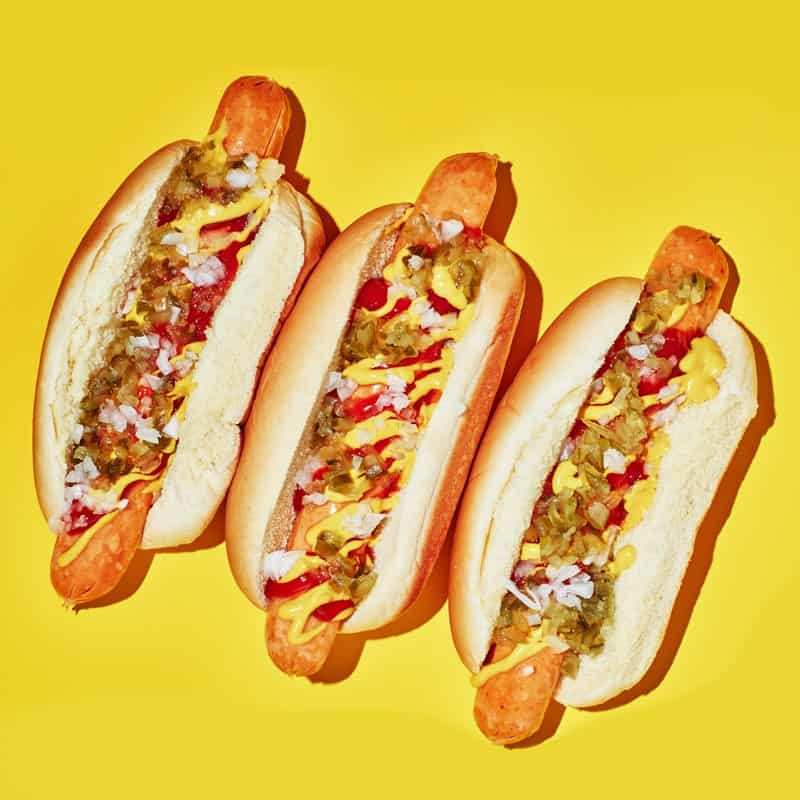 salmon hot dogs: it's a hot dog. it's salmon too.