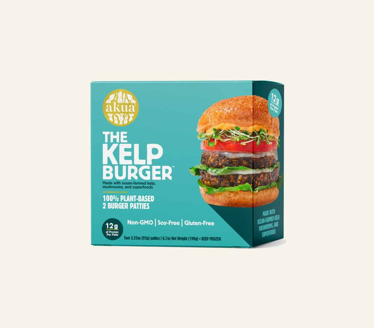 of all veggie burgers, the best is made from kelp